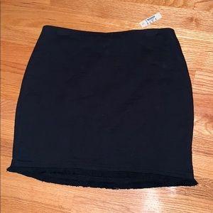 Black Fringe Hem skirt from Madewell NWT